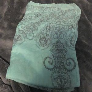Mint color scarf